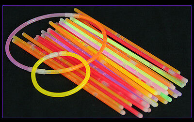 50pcs GLOW STICKS BRACELETS + GLOWBALLS + GLOW-GLASSES HALLOWEEN PARTY DECOR FUN
