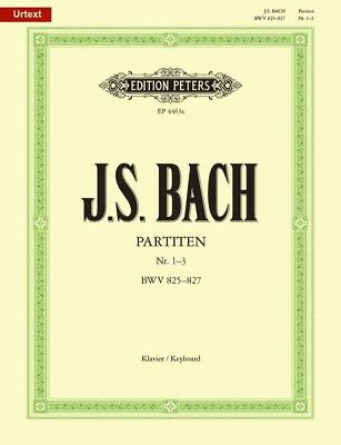 J.S. BACH - Partitas Vol.1 Urtext Peters Edition Piano Book *NEW* Sheet Music