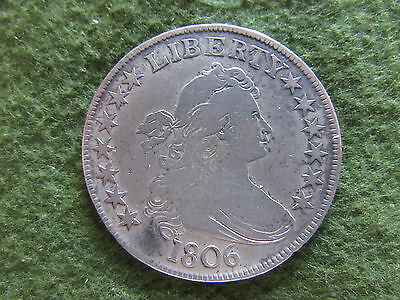 1806 Draped Bust Silver Half Dollar Pointed 6 Stem Variety US 50 Cent Coin