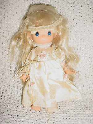 "PM-Inc-10""-1992 Lal Precious Moments Bride Wedding Bridal Doll-Blonde Hair"