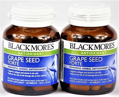 2 X Blackmores Grape Seed Forte 30 Tablets