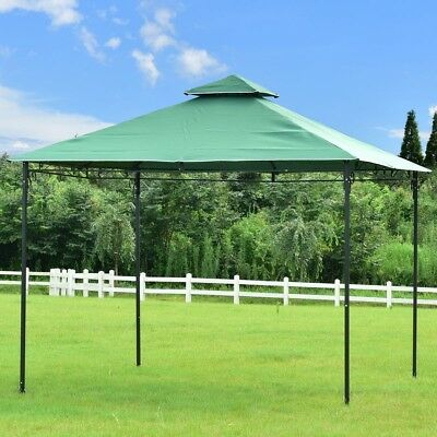 2-Tier 10' x 10' Patio Wedding Party Gazebo Canopy Tent Compact Shelter Outdoor