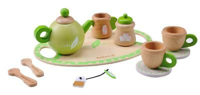 EverEarth Tea Set Kids Pretend Play Wooden Eco-Friendly Ever Earth