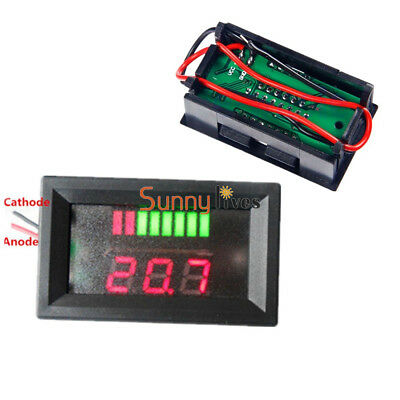 12V Lead-acid Lithium Red LED Indicator Battery Capacity Tester Voltmeter