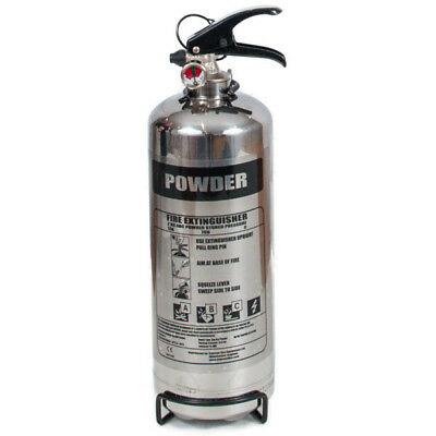 2kg Powder Chrome Stainless Steel Fire Extinguisher