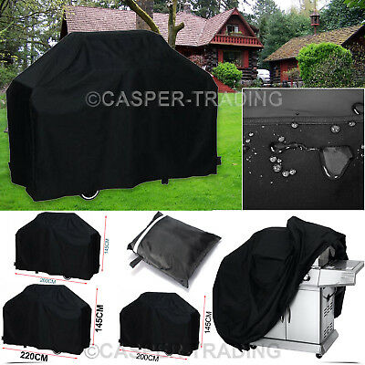 Outdoor Waterproof BBQ Barbecue UV Covers Garden Patio Grill Gas Protector Black