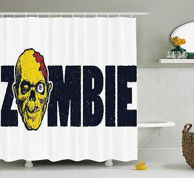 Shower curtains zombie curtain set elegant zombie herd for Zombie bathroom decor