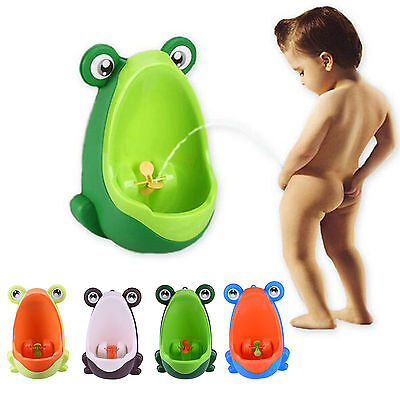 Kid Potty Toilet Training Frog Stand Vertical Urinal Infant Toddler Wall-Mounted