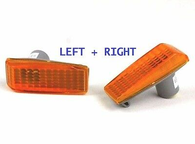 MERCEDES 190 E-CLASS C-CLASS S-CLASS Side Wing Repeaters Indicators PAIR - AMBER