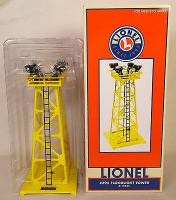 Lionel 6-14155-#395 Yellow Floodlight Tower-New In Original Box W/insert!