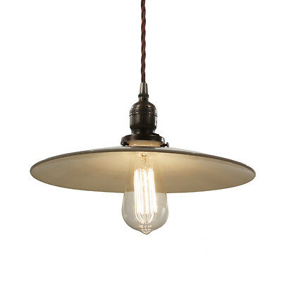 Industrial Pendant Light with Milk Glass Shade, Antique Lighting, NC2754