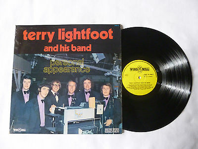 TERRY LIGHTFOOT ~ PERSONAL APPEARANCE ~ NrM/EX+ ~ 1972 UK VINYL LP ~ GREAT AUDIO