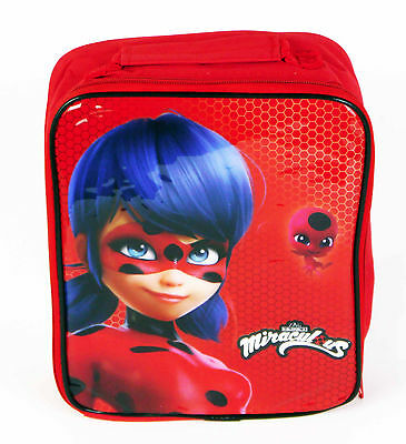 Miraculous Lady Bug Insulated Thermal Lunch Bag Box School Red Girls