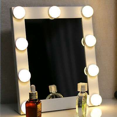 Led Bulb Vanity Lighted Hollywood Makeup with Dimmer Stage Beauty Mirror