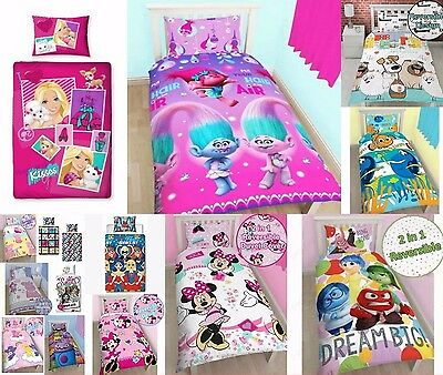New Disney Character Kids GIRLS Bedding Single & Double Duvet Cover Bed Sheet Se