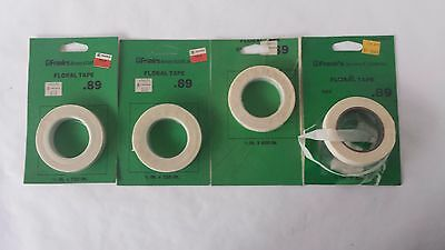 4 Rolls Beige Floral Adhesive Stretch Tape Florist Stem Tape Roll 50 and 60 Yds