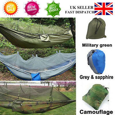 Outdoor Garden Jungle Camping Tent Hammock W/ Mosquito Net Military Picnic SALE