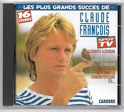 Cd / Claude Francois - Les Plus Grands Succes / 16 Titres (Album Annee 1988)