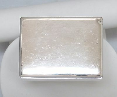 970 Sterling Silver Wood Lined Cigarette Box