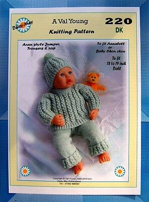1 Dolls knitting pattern for Annabell by Daisy-May 18 to 19 inch doll *No.227...