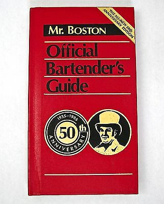 Mr. Boston 50th Anniversary Official Bartender's Guide - excellent condition
