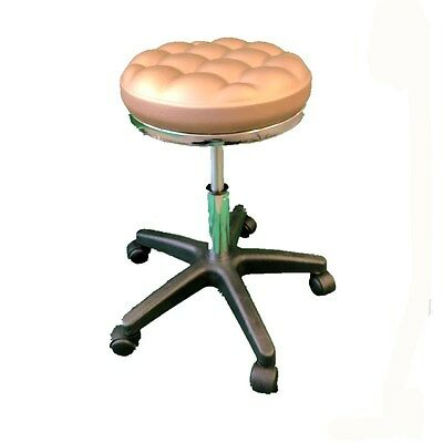 Deluxe Golden Hydraulic Adjustable Height Rolling Stool Spa Facial Massage Chair