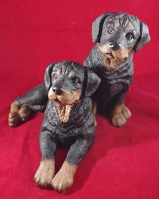 Rottweiler Dogs Large Collectible Statue Figurine Figure Sculpture Bust Statue