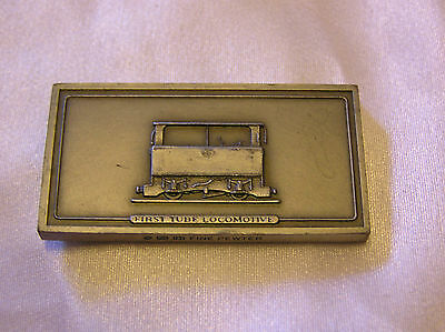 SOLID PEWTER INGOT of the FIRST TUBE LOCOMOTIVE