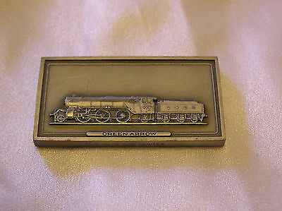 SOLID PEWTER INGOT of the GREEN ARROW LOCOMOTIVE