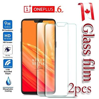 2x OnePlus 6 Tempered Glass / Pet Screen Protector LCD Guard Film