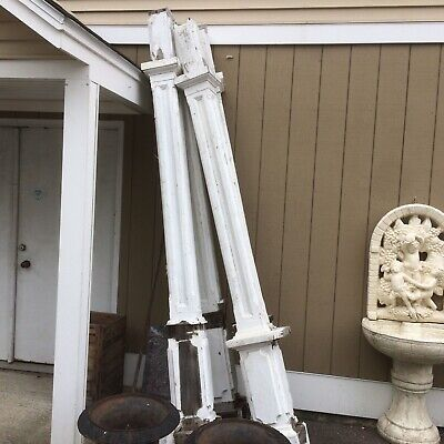 Set Of 4 Antique Architectural Savage Column Pillar 116""