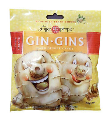 Gin Gins Hard Ginger Candy (Bag) 84g - The Ginger People
