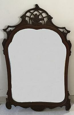 Beautiful vintage ornate mirror. Large art nouveau with fretwork arched top.