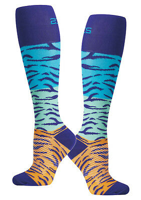 Stylish Nursing Compression Socks Jungle Tiger Womens Knee Length Socks