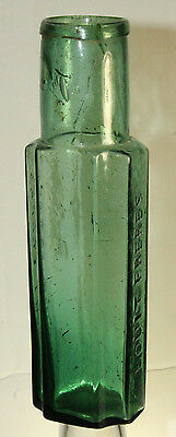 Early Blown Rare Color Louit Freres Olive Or Pickle Bottle 8''