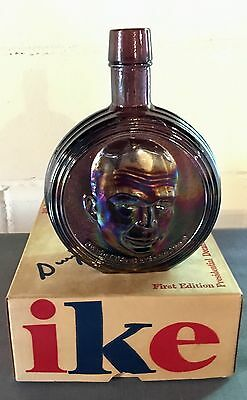 Presidential Commemorative Decanter Bottle, First Edition, Large, Ike With Box