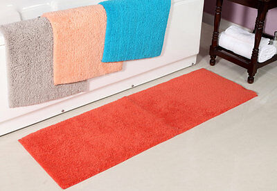 Luxurious Solid Microfiber Plush Non Slip Bath Runner 50 x 150 cm - 8 Colors