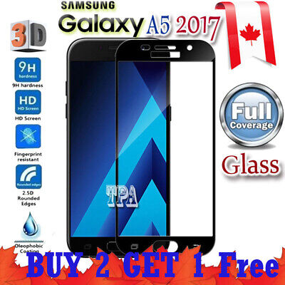 Full Coverage 3D Tempered Glass Screen Protector Samsung Galaxy A5 2017 A8 2018