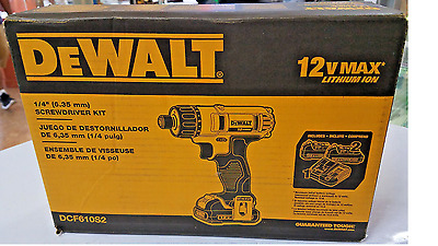 DEWALT 12-Volt Max Lithium-Ion 1/4 in. Cordless Screwdriver Kit
