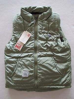 Brand New Boy's Winter Vest Furry Lined Interior Size 4 Green