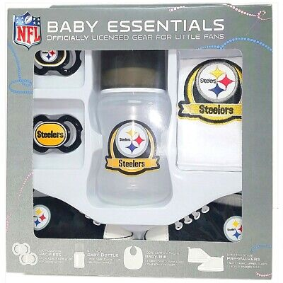 cc019ce64c8 NFL Pittsburgh Steelers Baby Essentials 5 Piece Newborn Infant Baby Shower  Gift