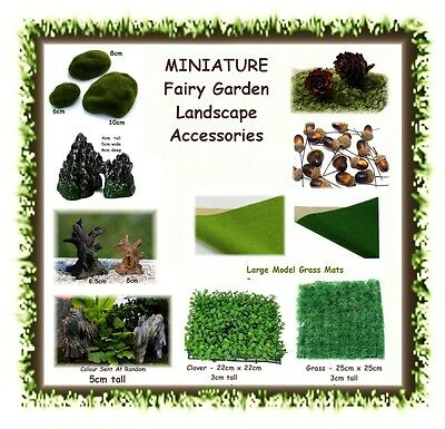 MINIATURE fairy garden landscape accessories - CHOOSE YOUR STYLE - terrarium