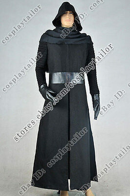 Star Wars The Force Awakens Kylo Ren Cosplay Costume Outfit Male Uniform Amazing