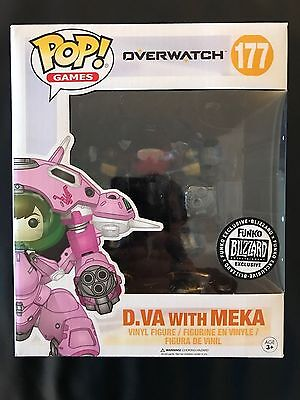 SDCC 2017 Exclusive Blizzard Funko POP! Games Overwatch D.Va with Meka In Hand