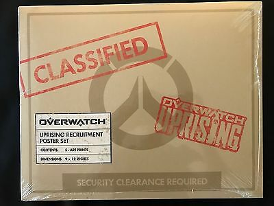 SDCC 2017 Exclusive Blizzard Overwatch Uprising Recruitment Posters In Hand