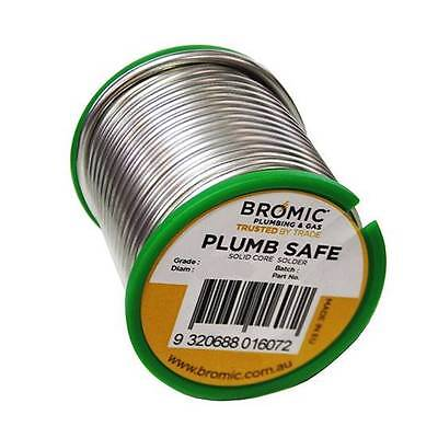 Bromic Plumb Safe Solid Core Lead Free Solder Wire Spool 500G Plumbing New