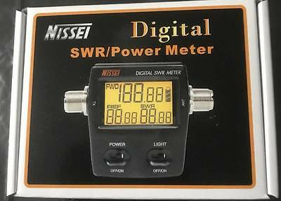 Nissei RS-70 Digital SWR/Power meter.  1.6 to 60 MHz. Accurate. Large display.
