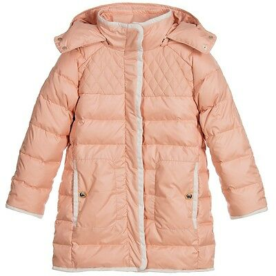 Chloe Baby Pink Down Padded Puffer Jacket Coat 4 Years