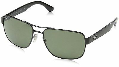 Ray-Ban RB3530 002/9A Black Frame Polarized Green 58mm Lens Sunglasses