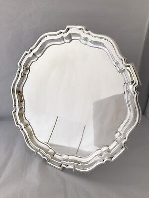 Large Solid Silver Salver Or Tray 1923 MAPPIN & WEBB 27oz